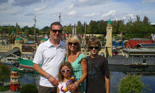 Roman Dunda s rodinou